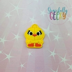 Ducky Doll Toy Feltie ITH Embroidery Design 4x4 hoop (and larger)