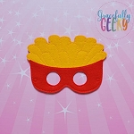 French Fries Mask Embroidery Design - 5x7 Hoop or Larger