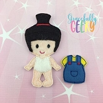 Agnes Toddler Dress up Doll  - Embroidery Design 4x4 hoop