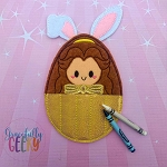 Princess Egg 3 Crayon Holder Embroidery Design - 5x7 Hoop or Larger