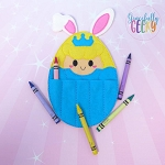 Princess Egg 4 Crayon Holder Embroidery Design - 5x7 Hoop or Larger