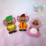 Mice finger puppet set - Embroidery Design