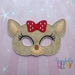 Claire Mask Embroidery Design - 5x7 Hoop or Larger