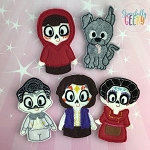 Land of the dead finger puppet set - Embroidery Design