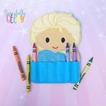 Elise Crayon Holder Embroidery Design - 5x7 Hoop or Larger