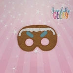 Gingerbread Mask Embroidery Design - 5x7 Hoop or Larger