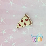Pizza Feltie ITH Embroidery Design 4x4 hoop (and larger)