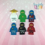 Ninja finger puppet set - Embroidery Design
