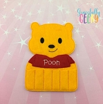 Honey Bear Crayon Holder Embroidery Design - 5x7 Hoop or Larger