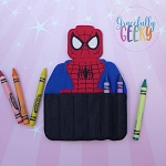 Spider Crayon Holder Embroidery Design - 5x7 Hoop or Larger
