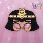 SM Cleo Mask Embroidery Design - 5x7 Hoop or Larger