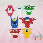 Airplanes finger puppet set - Embroidery Design