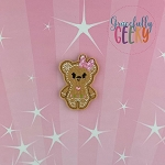Gingerbread Girl Bear Feltie ITH Embroidery Design 4x4 hoop (and larger)