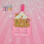 Gingerbread Mice Countdown to Christmas Embroidery Design