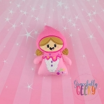 Gnome Girl Stuffed Doll Embroidery Design - 5x7 Hoop or Larger