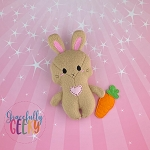 Bunny Stuffed Doll Embroidery Design - 5x7 Hoop or Larger