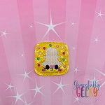 Kawaii Social Media Icon Snap Feltie ITH Embroidery Design 4x4 hoop (and larger)