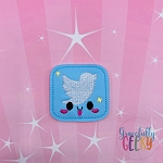 Kawaii Social Media Icon Feltie ITH Embroidery Design 4x4 hoop (and larger)