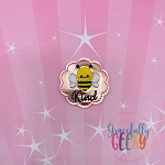 Bee Kind Feltie ITH Embroidery Design 4x4 hoop (and larger)
