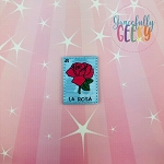 La Rosa Feltie ITH Embroidery Design 4x4 hoop (and larger)