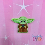 Baby Alien Tea (FILL) Feltie ITH Embroidery Design 4x4 hoop (and larger)