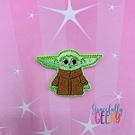 Baby Alien (FILL) Feltie ITH Embroidery Design 4x4 hoop (and larger)