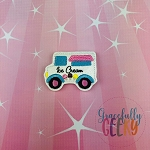 Ice Cream Truck Feltie ITH Embroidery Design 4x4 hoop (and larger)  2