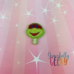 Turtle Popsicle Feltie ITH Embroidery Design 4x4 hoop (and larger)