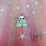 Kawaii Castle Feltie ITH Embroidery Design 4x4 hoop (and larger)