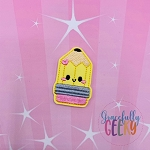Kawaii Pencil Feltie ITH Embroidery Design 4x4 hoop (and larger)