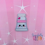 Kawaii Paint Tube Feltie ITH Embroidery Design 4x4 hoop (and larger)