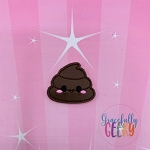 Kawaii Poop Feltie ITH Embroidery Design 4x4 hoop (and larger)