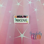 Hello, I'm Anxious Feltie ITH Embroidery Design 4x4 hoop (and larger)