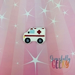 Ambulance Feltie ITH Embroidery Design 4x4 hoop (and larger)