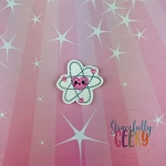 Kawaii Atom Feltie ITH Embroidery Design 4x4 hoop (and larger)