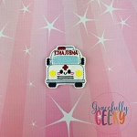 Kawaii Ambulance Feltie ITH Embroidery Design 4x4 hoop (and larger)