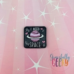 I Need Space Feltie ITH Embroidery Design 4x4 hoop (and larger)