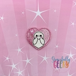 Robot Nurse Heart Blush Feltie ITH Embroidery Design 4x4 hoop (and larger)