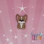Kawaii Corgi Feltie ITH Embroidery Design 4x4 hoop (and larger)