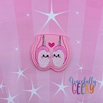 Kawaii Testicles Feltie ITH Embroidery Design 4x4 hoop (and larger)
