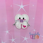 Kawaii Braces Tooth Feltie ITH Embroidery Design 4x4 hoop (and larger)