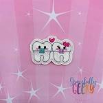 Kawaii Braces Feltie ITH Embroidery Design 4x4 hoop (and larger)