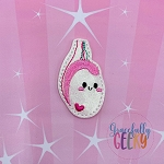 Kawaii Testicle Feltie ITH Embroidery Design 4x4 hoop (and larger)