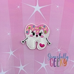 Kawaii Sweet Tooth Feltie ITH Embroidery Design 4x4 hoop (and larger)