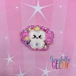 Kawaii Tooth Fairy Feltie ITH Embroidery Design 4x4 hoop (and larger)