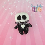 Skeleton Stuffie Embroidery Design - 5x7 Hoop or Larger