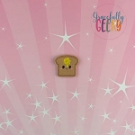 Kawaii Buttered Toast Feltie ITH Embroidery Design 4x4 hoop (and larger)