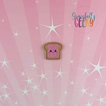 Kawaii Jelly Toast Feltie ITH Embroidery Design 4x4 hoop (and larger)