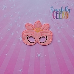 Lily Mask Embroidery Design - 5x7 Hoop or Larger