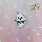 Little Ghost BOO Feltie ITH Embroidery Design 4x4 hoop (and larger)